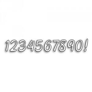 Karten-Kunst Stanzschablone - Große Texte 1234567890!