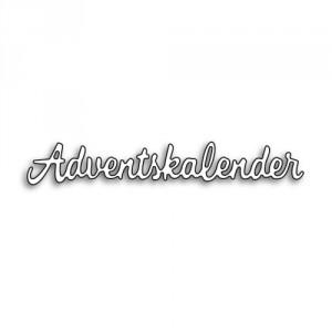 Karten-Kunst Stanzschablone - Kleine Texte Adventskalender