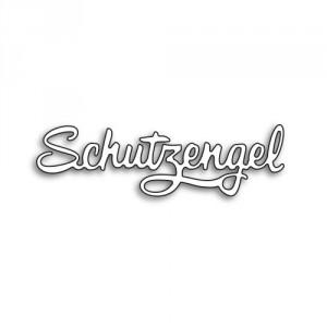 Karten-Kunst Stanzschablone - Große Texte Schutzengel