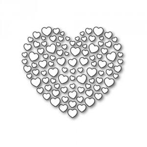 Karten-Kunst Stanzschablone - Heart of Hearts