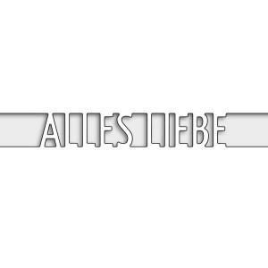 Karten-Kunst Stanzschablone - Brückentext Alles Liebe