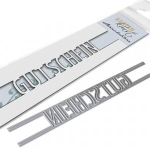 Karten-Kunst Stanzschablone kk-D059 - Brückentext Gutschein