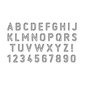 Karten-Kunst Stanzschablone - Stencil Alphabet