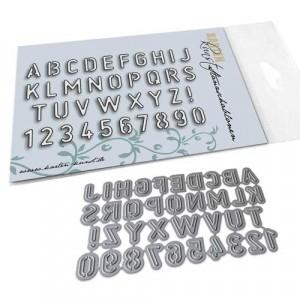 Karten-Kunst Stanzschablone kk-D063 - Stencil Alphabet