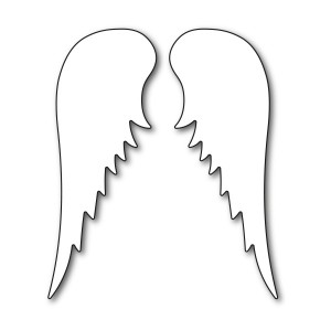 Karten-Kunst Stanzschablone - Angel Wings