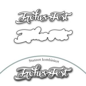 Karten-Kunst Stanzschablone - Nyala Script Frohes Fest