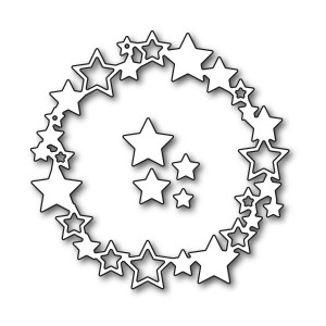 Karten-Kunst Stanzschablone - Star Wreath