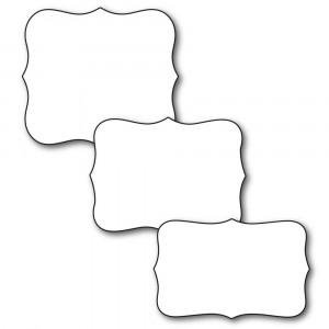 Karten-Kunst Stanzschablone - Labels