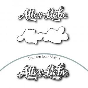 Karten-Kunst Stanzschablone - Nyala Script Alles Liebe