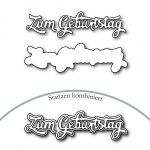 Karten-Kunst Stanzschablone - Nyala Script Zum Geburtstag