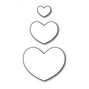 Karten-Kunst Stanzschablone - Round Hearts