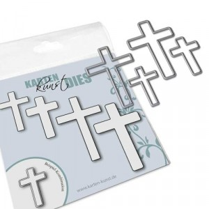 Karten-Kunst Stanzschablone kk-D083 - Crosses