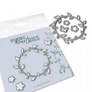 Karten-Kunst Stanzschablone kk-D103 - Small Flower Wreath