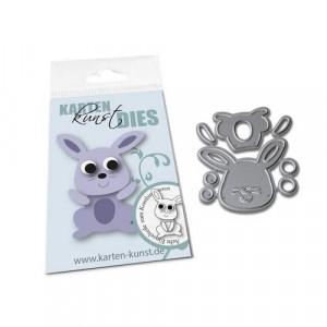 Karten-Kunst Stanzschablone - Mini Rabbit