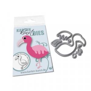 Karten-Kunst Stanzschablone - Mini Flamingo