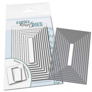 Karten-Kunst Stanzschablone kk-D119 - Rectangles with Stitches outside
