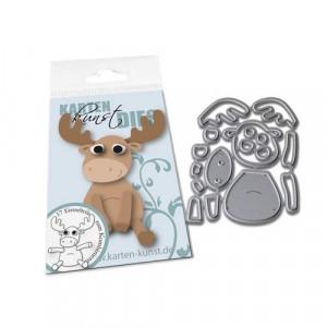 Karten-Kunst Stanzschablone kk-D124 - Mini Reindeer