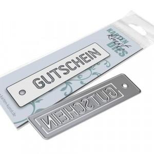 Karten-Kunst Stanzschablone kk-D148 - Stencil Tag Gutschein