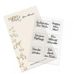 Karten-Kunst Clear Stamp Inchie-Grüße 3