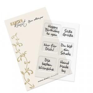 Karten-Kunst Clear Stamp Inchie-Grüße 2