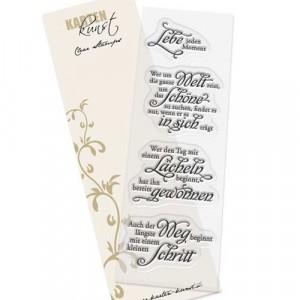 """Karten-Kunst Clear Stamp Set - Weise Worte """"Leben"""""""