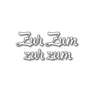 Karten-Kunst Stanzschablone - Große Texte Zur Zum