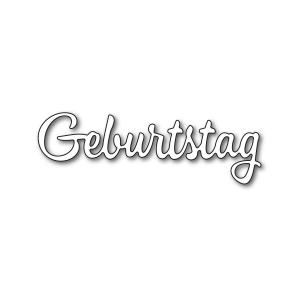 Karten-Kunst Stanzschablone - Große Texte Geburtstag
