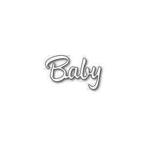 Karten-Kunst Stanzschablone - Große Texte Baby