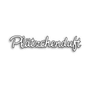 Karten-Kunst Stanzschablone - Kleine Texte Plätzchenduft