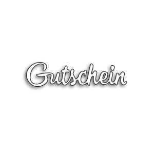 Karten-Kunst Stanzschablone - Große Texte Gutschein