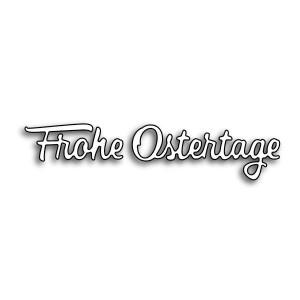 Karten-Kunst Stanzschablone - Kleine Texte Frohe Ostertage