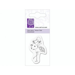cArt-Us Mini-Stempel - Baby & Storch