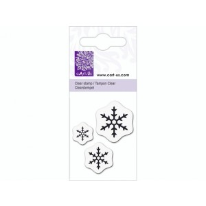 cArt-Us Mini-Stempel - Drei Eiskristalle
