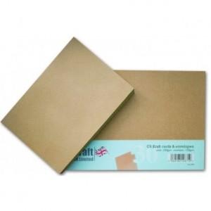 Craft UK Cardpack DIN A6 30 Karten und Umschläge -  Gold-Braun