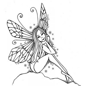 Lavinia Stamps - Sitting Fairy