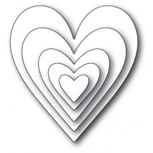 Memory Box Open Studio Stanzschablone - Glorious Hearts