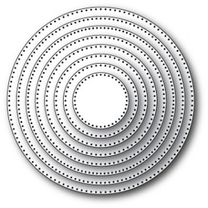 Memory Box Open Studio Stanzschablone - Pinpoint Circle Layers