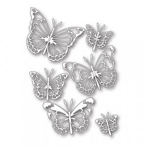 Memory Box Open Studio Stanzschablone - Morning Garden Butterflies