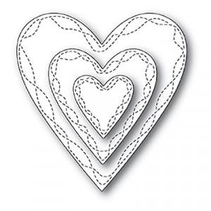 Memory Box Open Studio Stanzschablonen-Set - Wrapped Stitch Hearts