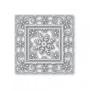 Memory Box Stanzschablone - Elegant Snowflake Double Frame