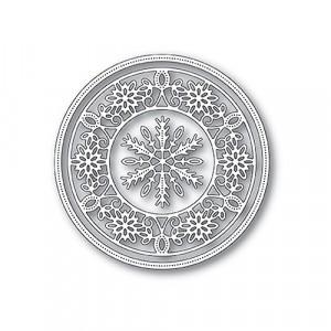 Memory Box Stanzschablone - Pinpoint Snowflake Circle Frame