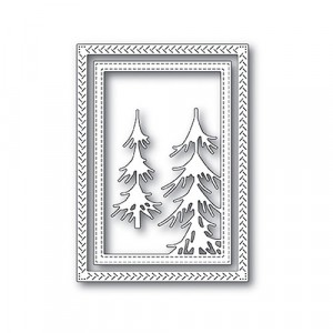 Memory Box Stanzschablone - Pine Forest Frame