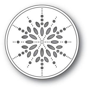 Memory Box Stanzschablone - Pinpoint Snowflake Circle - 20% RABATT