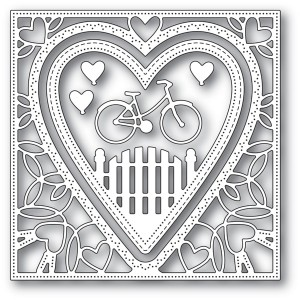 Memory Box Stanzschablone - Neighborhood Heart Frame - 20% RABATT