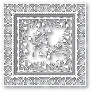 Memory Box Stanzschablone - Heart Border Frame
