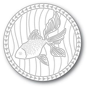 Memory Box Stanzschablone - Serene Goldfish - 30% RABATT