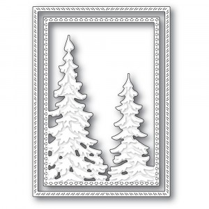 Memory Box Stanzschablone - Pine Tree Frame