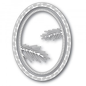 Memory Box Stanzschablone - Pine Needle Oval Frame