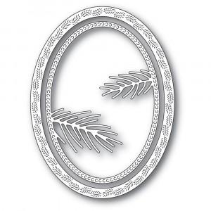 Memory Box Stanzschablone - Pine Needle Oval Frame - 25% RABATT