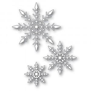 Memory Box Stanzschablone - Sparkling Snowflake Trio